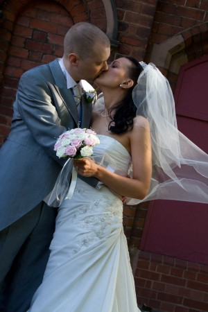 Kelda and Stephen at Lichfield Registry Office