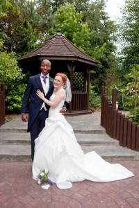 image of Julie and Greg at Four Oaks Methodist Church and Fairlawns Hotel