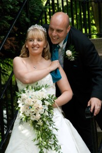 image of Amanda and Matthew St Nicholas Church Kings Norton & St John's Hotel Solihull